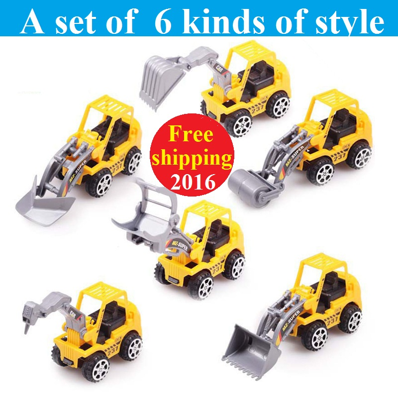 6pcs/lot Free Shipping Best Gift Truck model toy 6 kinds of style Cute car Toy for Child Mini Car Model Kids Toys