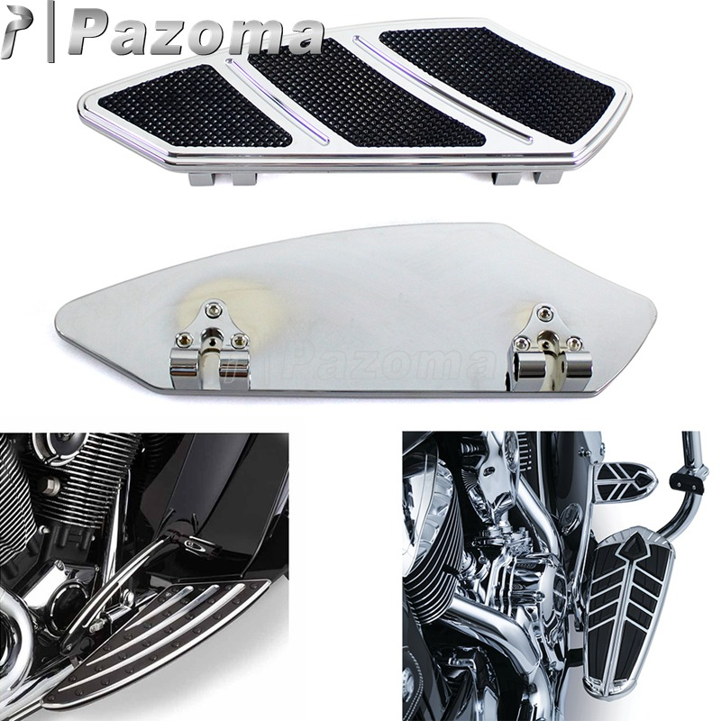 Motorcycle Passenger Floor Boards Foot Pegs Pedal Driver Front Floorboard For Harley Touring Street Road Glide