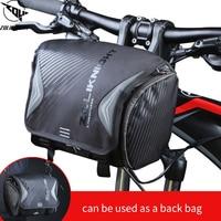 Waterproof Bike Bag Large Capacity Handlebar Front Tube Bag two way bag Bicycle Pocket Shoulder bag Cycling Bike Accessories