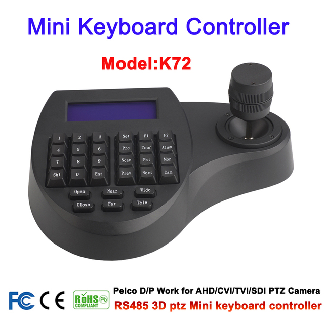 ミニrs 485 3d cctvキーボードコントローラのジョイスティック