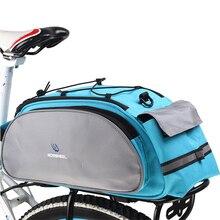 2 Colors Bicycle Bag Multifunction 13L Bike Tail Rear Bag Saddle Cycling Riding Bicicleta Basket Rack Trunk Bag Shoulder Handbag цена