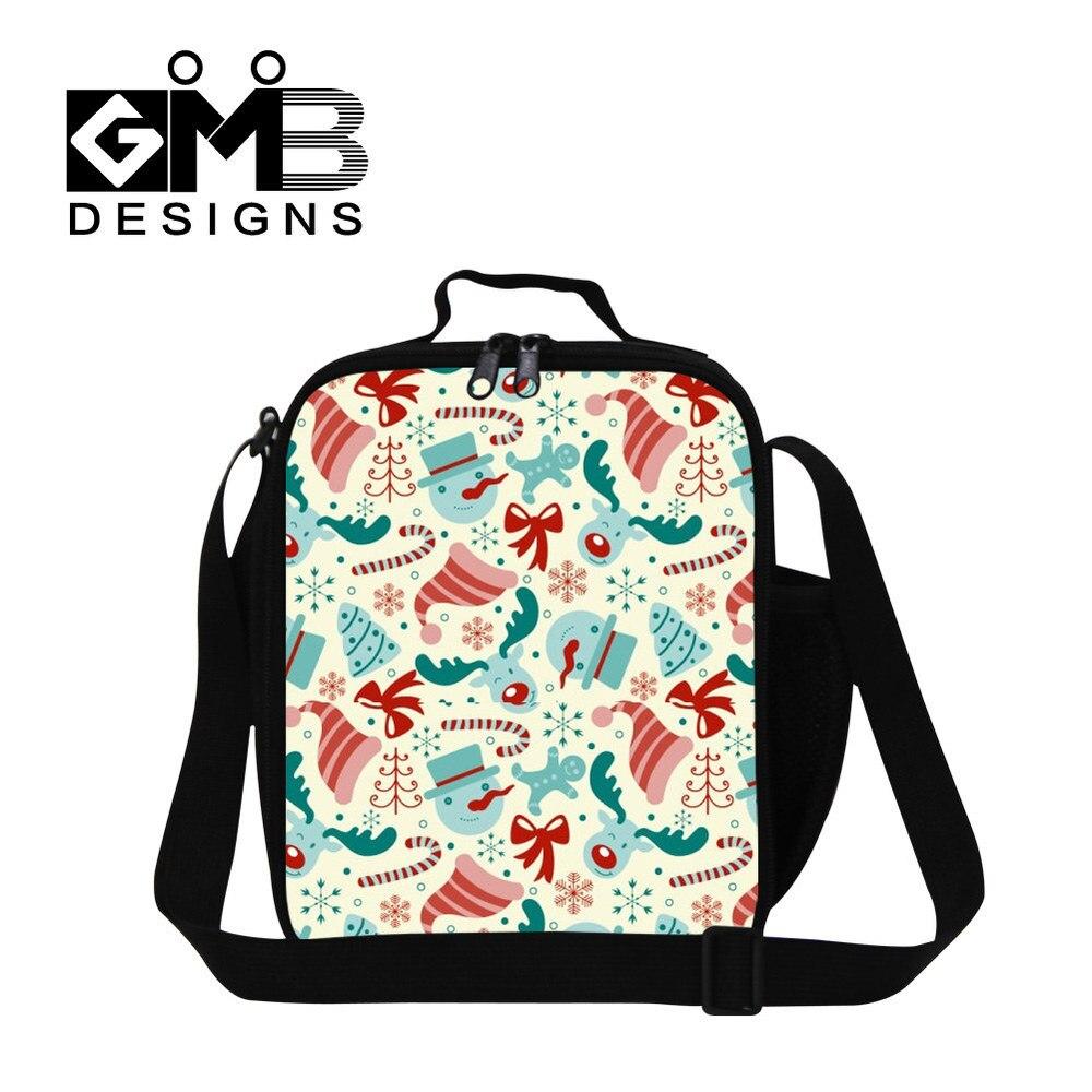 Санта печать детская сумка для обеда термо Крышка для еды сумка Детская сумка для пикника еда переноски хранения пикника Tote Bolsa Feminina - Цвет: Зеленый