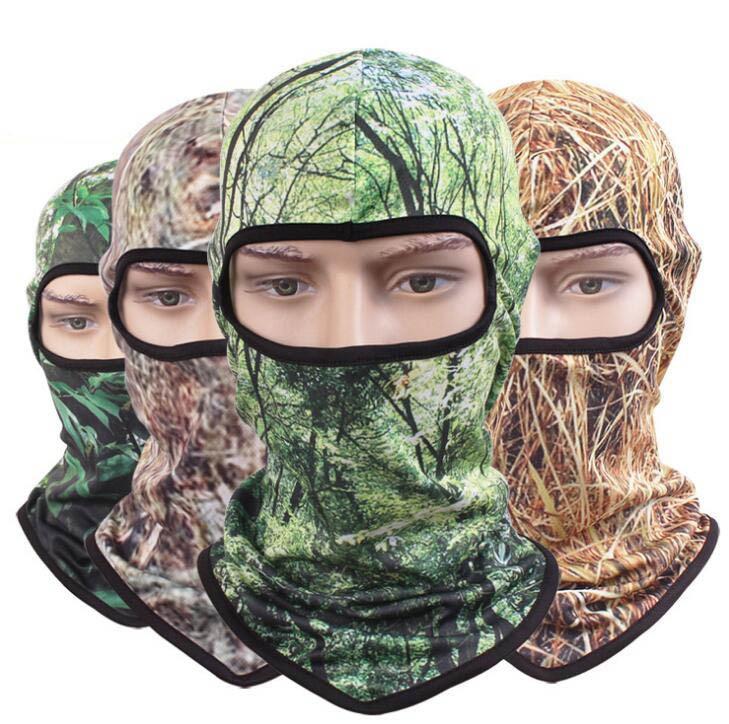 30pcs COOL Men CS Camo Mesh Net Skull Masks Balaclava One Hole Mens Tactics Camouflage Balaclava Head Face Protection Caps airsoft adults cs field game skeleton warrior skull paintball mask