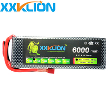 hot sale XXKLION 2S 7.4V 6000MAH 25C Rechargeable drone Lipo Battery pack for RC car the ship model FPV Quadcopter Free Shipping