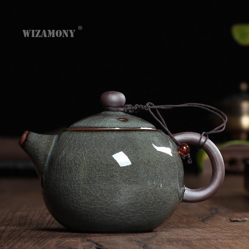 New tea set Crackle Glaze GeKiln Longquan Celadon Zisha Ceramics Arts Tay Thi China Teapot Porcelain