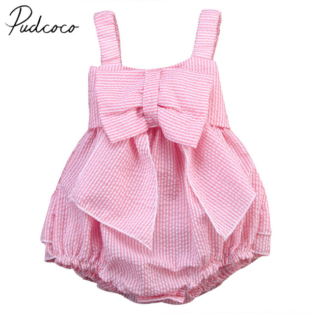 b7a94c450 PUDCOCO Brand Cotton Newborn Infant Baby Girl Bodysuit Jumpsuit ...