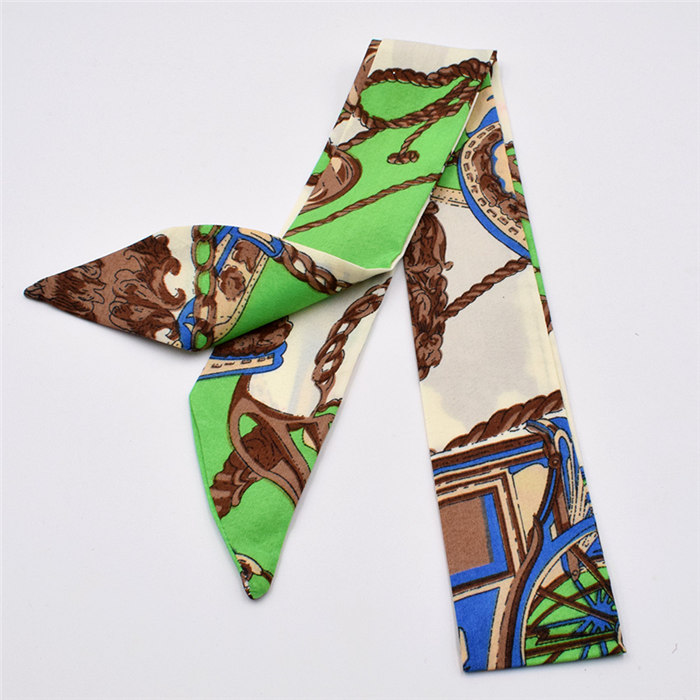 HTB1gvASdlaE3KVjSZLeq6xsSFXaP - Small Silk Scarf For Women New Print Handle Bag Ribbons Brand Fashion Head Scarf Small Long Skinny Scarves Wholesale