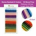 0.10 толщина C локон 10 мм 12 мм 8 цветов/комплект ложные цвета радуги ресницы наращивание ресниц Бесплатная доставка!