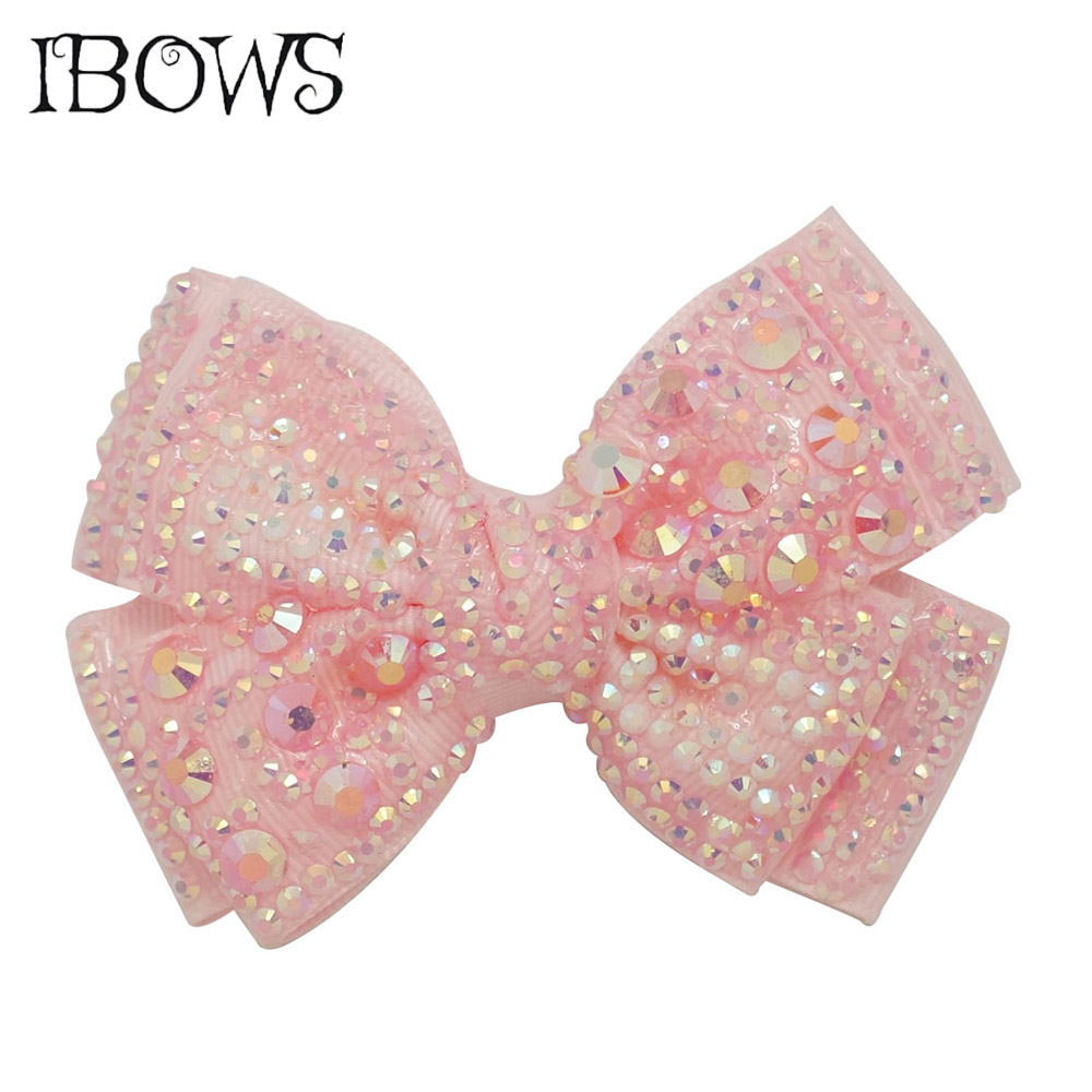 4 Inch Crystal Twinkling Hair Clips Fashion Women Elegant Hair Bow Butterfly Rhinestone Hairpin Barrettes Hair Accessories