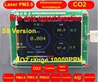 Экспорт данных S8 M5S CO2 Сенсор формальдегида PM2.5 детектор PM2.5 пыли Haze лазерной Сенсор с Температура и влажности TFT ЖК дисплей