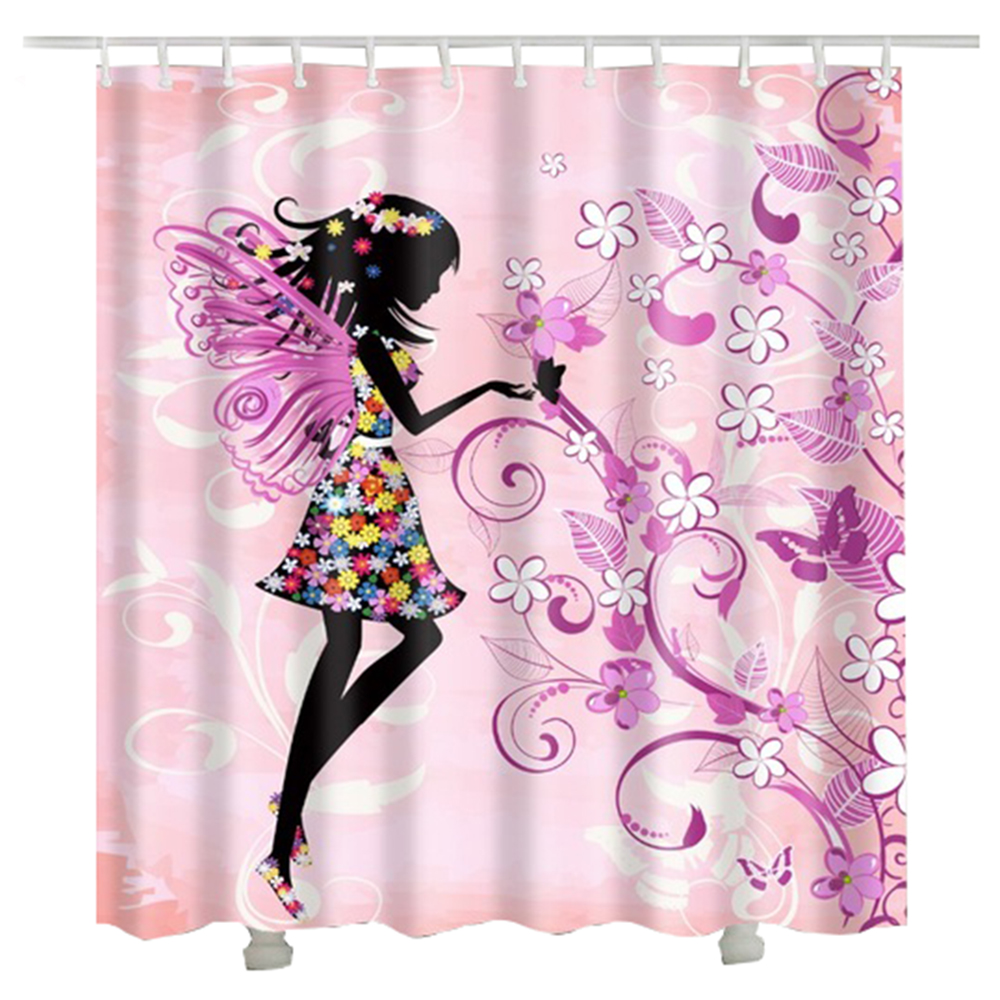 Buy Shower Curtains Online Us 9 5 Flower Girl Shower Curtains Cheap Rideaux De Douche 3d Bathroom Decorative Butterfly Flower Women Bath Curtain In Shower Curtains From Home