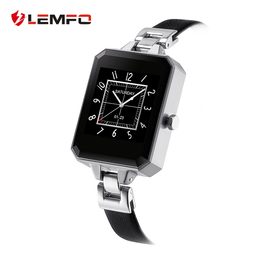 imágenes para LEMFO LEM2 Reloj Inteligente Primera Bluetooth Smartwatch para Mujer Mujeres Pulsómetro MTK2502C APK para Apple IOS Android Teléfono