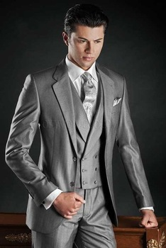 Fashionable Mens Dinner Party Prom Suits Groom Tuxedos Groomsmen Wedding Blazer Suits (Jacket+Pants+Vest+Tie) K:1769