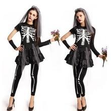 Girl dress de halloween horror zombie bride cosplay esqueleto adulto anime woman costume party fancy dress un tamaño liquidación