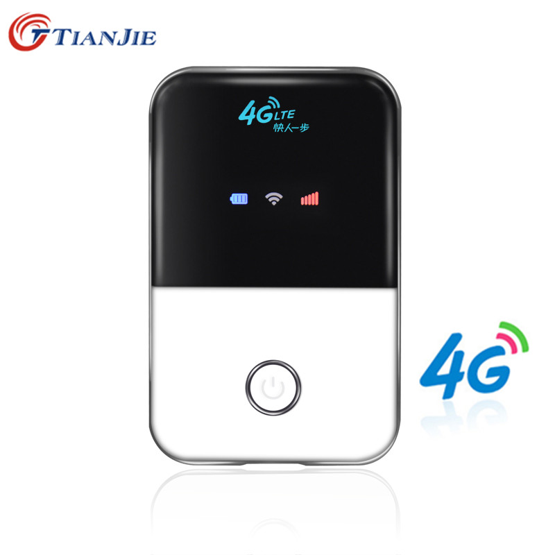 TIANJIE 4G Wifi Router mini router 4G Lte Wireless Portable Pocket wi fi Mobile Hotspot Car Wi-fi Router With Sim Card Slot new arrival wholesale mobile portable multifunctional mini wireless power bank battary charger 3g wifi router with sim card slot