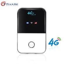 TIANJIE 4G Router Wifi mini router 4G Lte Inalámbrica Portátil de Bolsillo wi fi Hotspot Móvil Wi-fi Router Con Ranura Para Tarjeta Sim de Coches