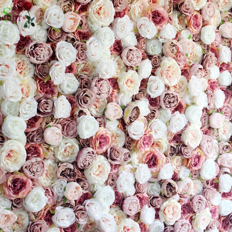 SPR livraison gratuite 10 pcs/lot décoration de mariage fleur artificielle mur chemin de table mariage toile de fond fleur route plomb fleur-in Fleurs séchées et artificielles from Maison & Animalerie    1