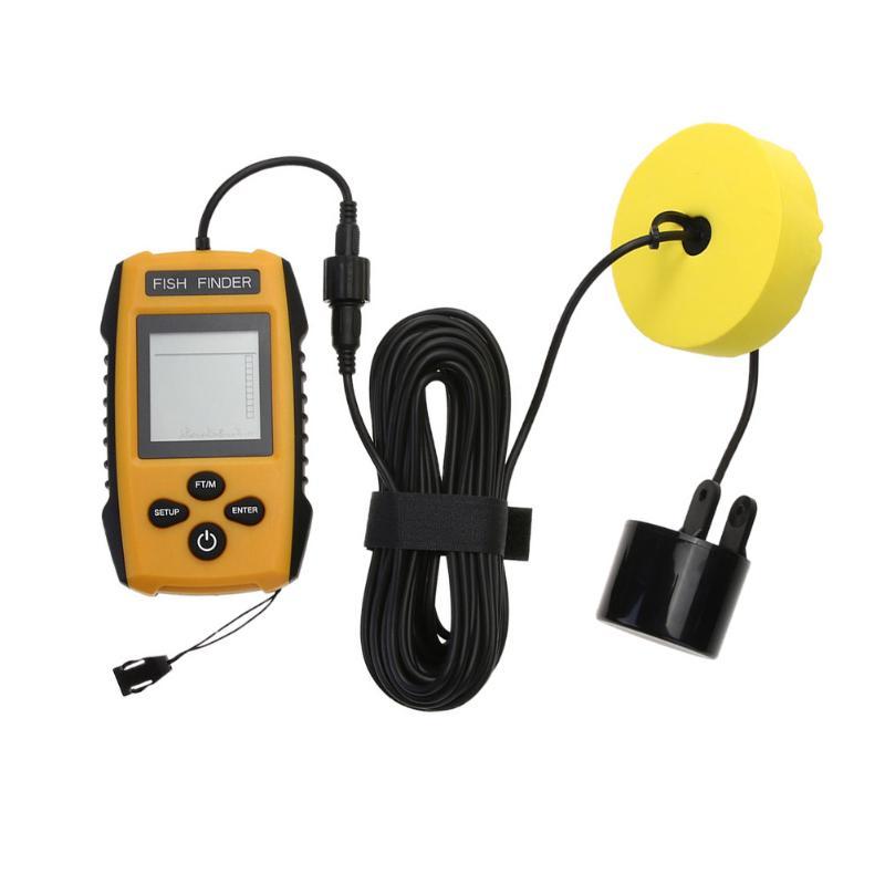 Portable Fish Finder Dual Ultrasonic Sonar Wired Fish Detector Locator Anti- UV Liquid Crystal Display LED Backlight Fish Finder