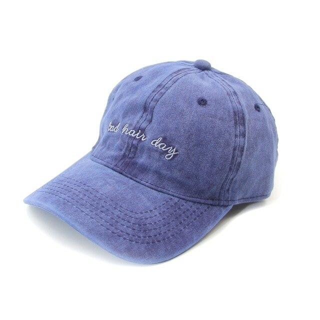 Sport Trucker Baseball Bad Hair Day Letters Cap Men Women Lightweight  Adjustable Dad Plain Caps Cotton Snapback Hats  AHB012-013 ecf365742