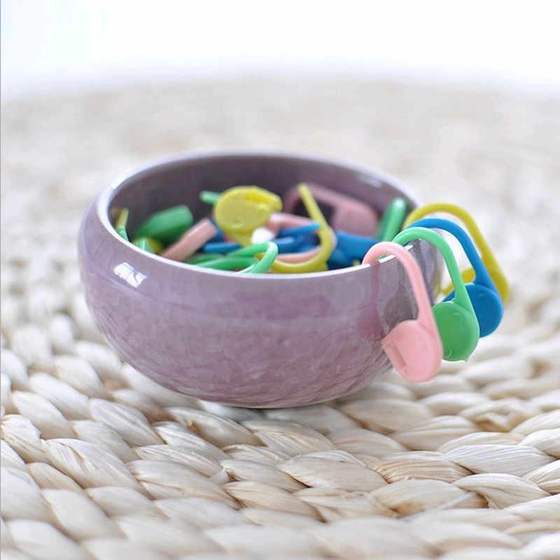 1/20/50/100Pcs Dicampur Warna Plastik Rajut Jarum Crochet Penguncian Stitch Spidol Crochet Kait Rajut alat Jarum Klip Panas
