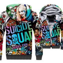 Super Hero Suicide Squad Streetwear 3D Hoodies Men New Style 2019 Winter Warm Fleece Jacket Long Sleeve Hooded Sweatshirts