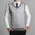 2016 Nova Outono Inverno Clássico Com Decote Em V Coletes À Prova de Camisola Sem Mangas Dos Homens Suéter de Lã