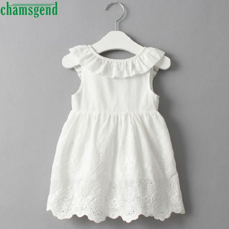 CHAMSGEND mode Enfant Enfants Bébé Filles Princesse Party Vêtements Grand Arc Sans Manches Tutu Robes drop ship july1 P23
