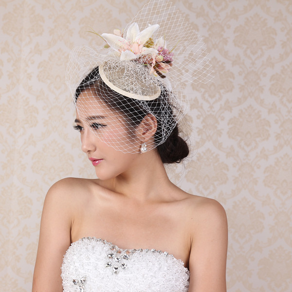 Charm white Wedding Hat floral fascinator Sexy Women linen Hair ornaments  headpiece bridal Wedding Photograph Accessories Gifts 798dca142a1