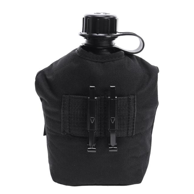 1L Camping Hiking Survival Kettle Heavy Cover Army Water Bottle Aluminum Cooking Cup US Military Canteen Hot Outdoor Tableware 2