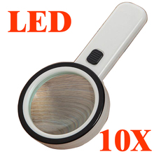 magnifier magnifying glass with led lights 10X magnified for Old man reading helping hand repair third hand soldering