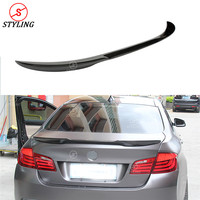 For BMW F10 Carbon Rear Spoiler M4 Style Sedan F10 523i 520d 525d & F10 M5 Carbon Fiber rear spoiler car Rear trunk wing 2010 UP