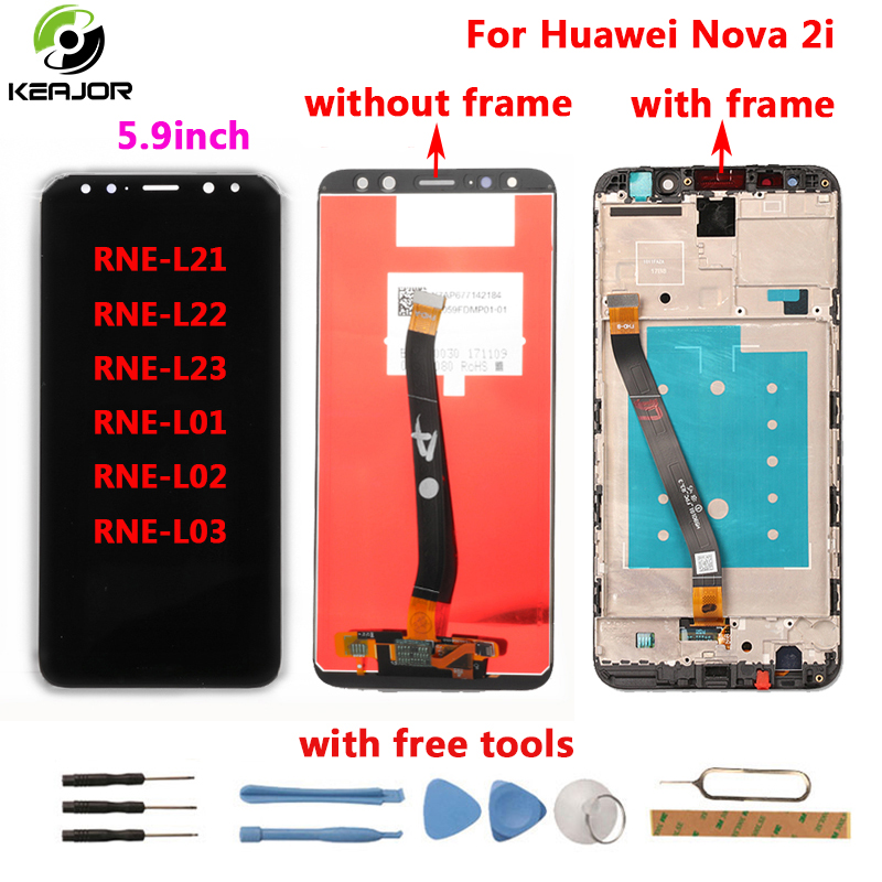 for Huawei Nova 2i LCD Display+Touch Screen 2160X1080 FHD with Tools Glass Panel Phone Accessories For Huawei Nova 2i 5.9inchfor Huawei Nova 2i LCD Display+Touch Screen 2160X1080 FHD with Tools Glass Panel Phone Accessories For Huawei Nova 2i 5.9inch