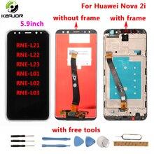 Для huawei Nova 2i ЖК-дисплей + сенсорный экран 2160X1080 FHD с инструментами стеклянная панель аксессуары для телефона для huawei Nova 2i 5,9 дюймов