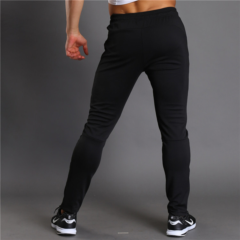 Men Trousers Summer Breathable Long Pants Running Basketball Sweatpants Elastic Tights Fitness Workout Male Jogger with pockets
