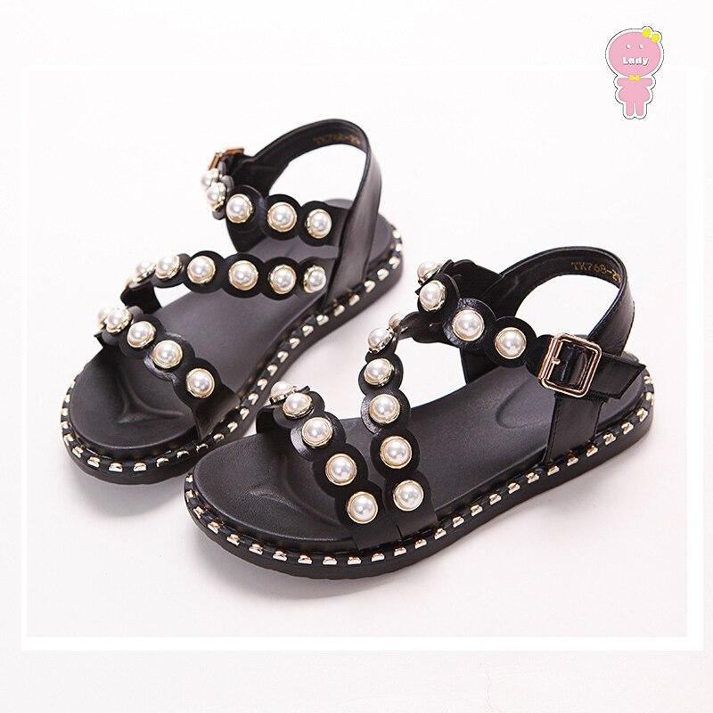 4e3c6d08aa Summer baby shoes girls sandals kids beach shoes children Brand sandals  quality new fashion pearl rivet