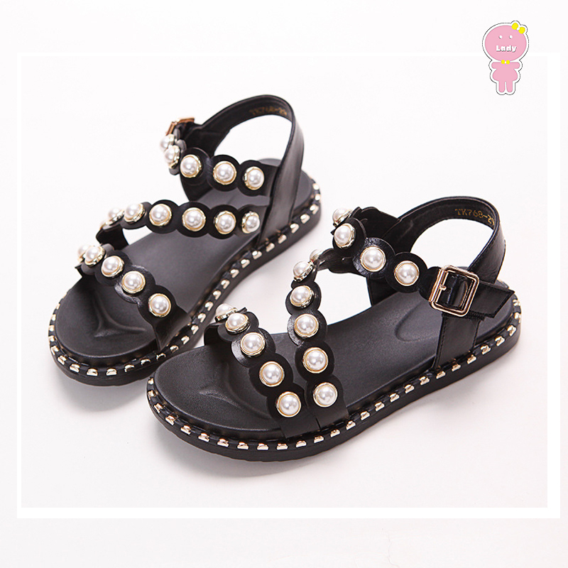 Summer baby shoes girls sandals kids beach shoes children Brand sandals quality new fashion pearl rivet PU 3 to 13 yrsSummer baby shoes girls sandals kids beach shoes children Brand sandals quality new fashion pearl rivet PU 3 to 13 yrs