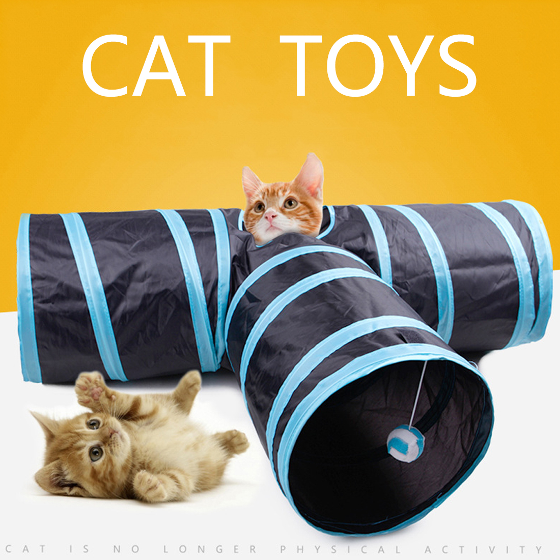 3 Ways Y Shape Foldable Pet Puppy Animal Cat Kitten Play Toy Exercise Tunnel Cave Cat Toys