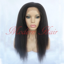 Long Kinky Straight Synthetic Lace Front Wigs Light Italian Yaki Synthetic Full Lace Wig Heat Resistant Fiber Glueless Lace Wigs
