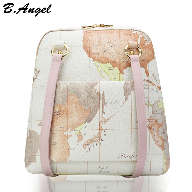 High quality world map backpack special women backpack leather high quality world map backpack special women backpack leather backpack school bag mochila travel backpack hc gumiabroncs Image collections