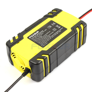 Image 2 - FOXSUR 12V 8A 24V 4A 3 stage Smart Battery Charger, 12V 24V EFB GEL AGM WET Car Battery Charger with LCD display & Desulfator