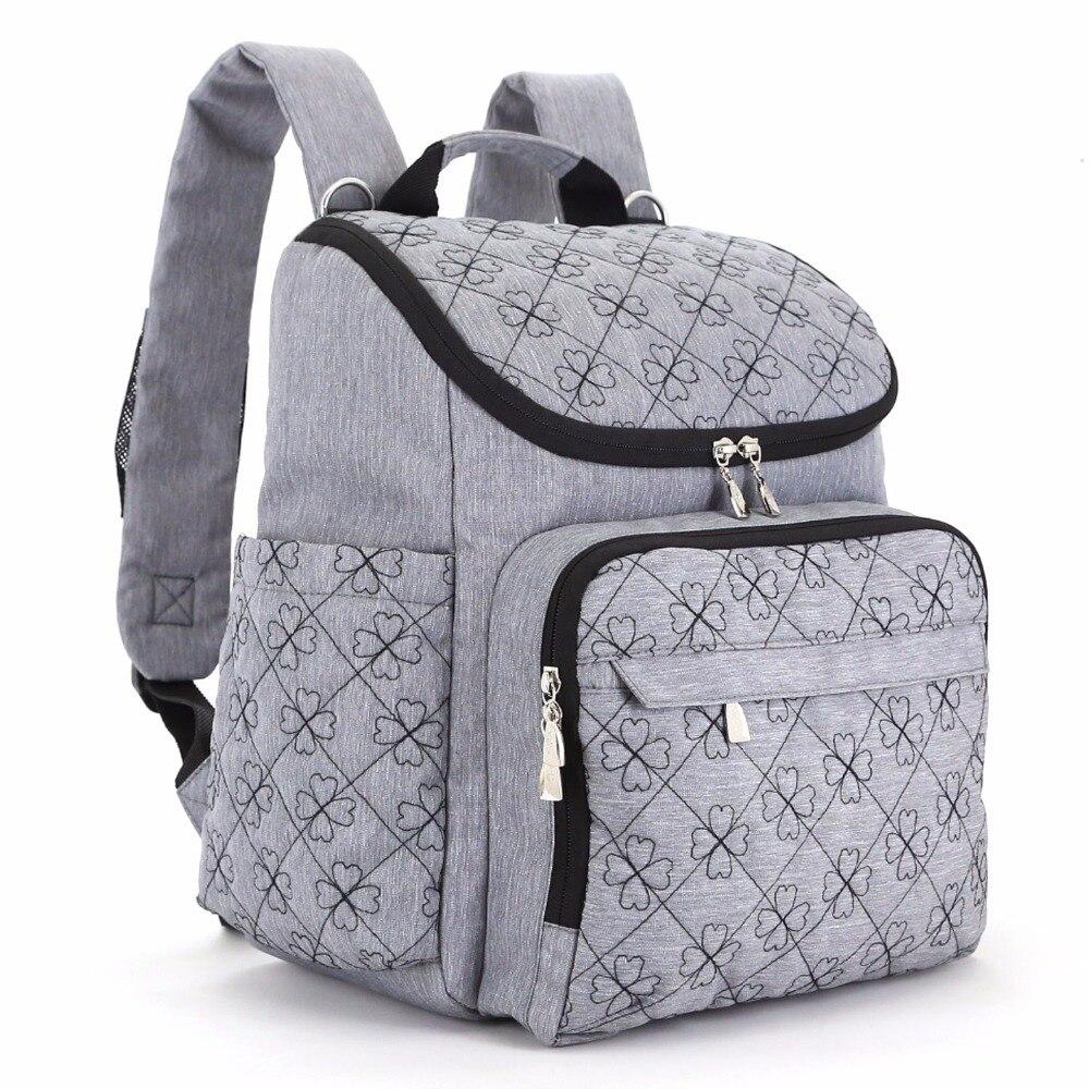 Bolsa de pañales de moda momia maternidad bolsa de pañales marca mochila de viaje bebé pañal organizador bolsa de enfermería para el cochecito de bebé