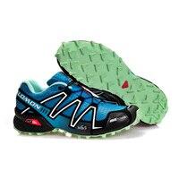 Salomon Speed Cross 3 Running Shoes Breathable Outdoor Sport Sneakers Green Color men Training Footwear Hot Sale