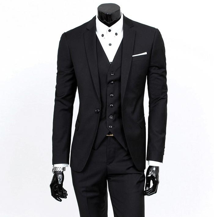 Latest Coat Pant Designs New Black Wedding Suits for Men Slim Fit 3 Piece Groom Tuxedo Custom Suit Prom Blazer Terno Masculino