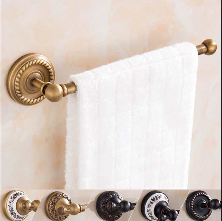 Free Shipping Antique bronze Finish Toilet brass Single towel bar Bathroom Accessories  towel holder Classic towel bars simple old antique bronze doctor who theme quartz pendant pocket watch with chain necklace free shipping