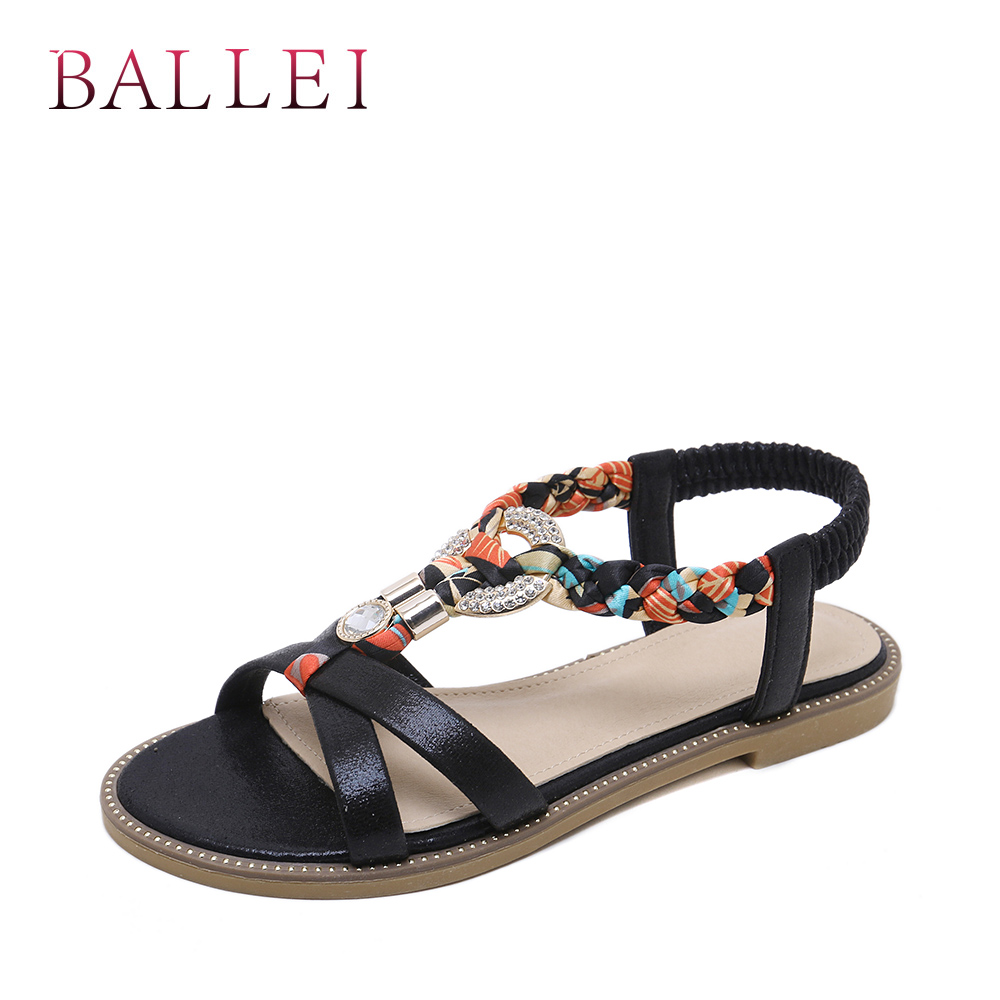 Balle High Quality Woman Sandals Vintage Genuine Leather Comfortable Low Heel Shoes Elegant Lady Ethnic Retro Casual Sandals S71 Low Heels