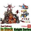 14019 Nexoe Knights Volcano Lair Castle Model Building Kits Compatible City 3D Blocks Educational Toys