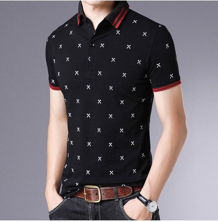 Fashion 2019 Summer New 95% Cotton   Polo   Shirt Men Short Sleeve Cloting Plus Asian Size M-5XL