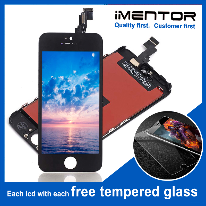 10pcs for AAA iphone 5c lcd glass with touch full replacement Free Tempered Glass 10pcs