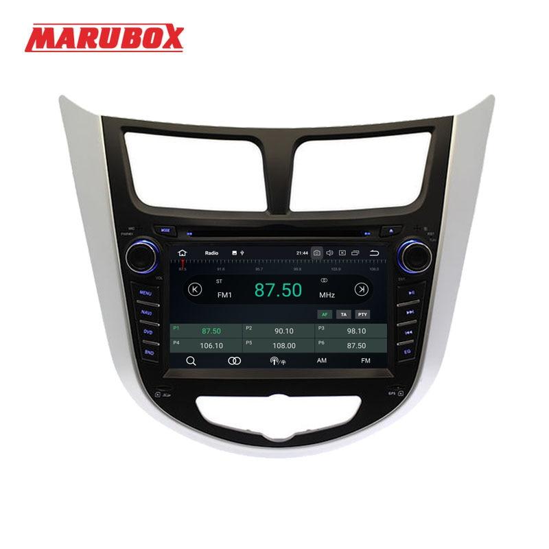 MARUBOX 7A300PX5 Car Multimedia Player For HYUNDAI Solaris 2012 2016 Verna Accent Android 9.0 4G RAM 32 ROM Radio GPS Navi DVD-in Car Multimedia Player from Automobiles & Motorcycles    2