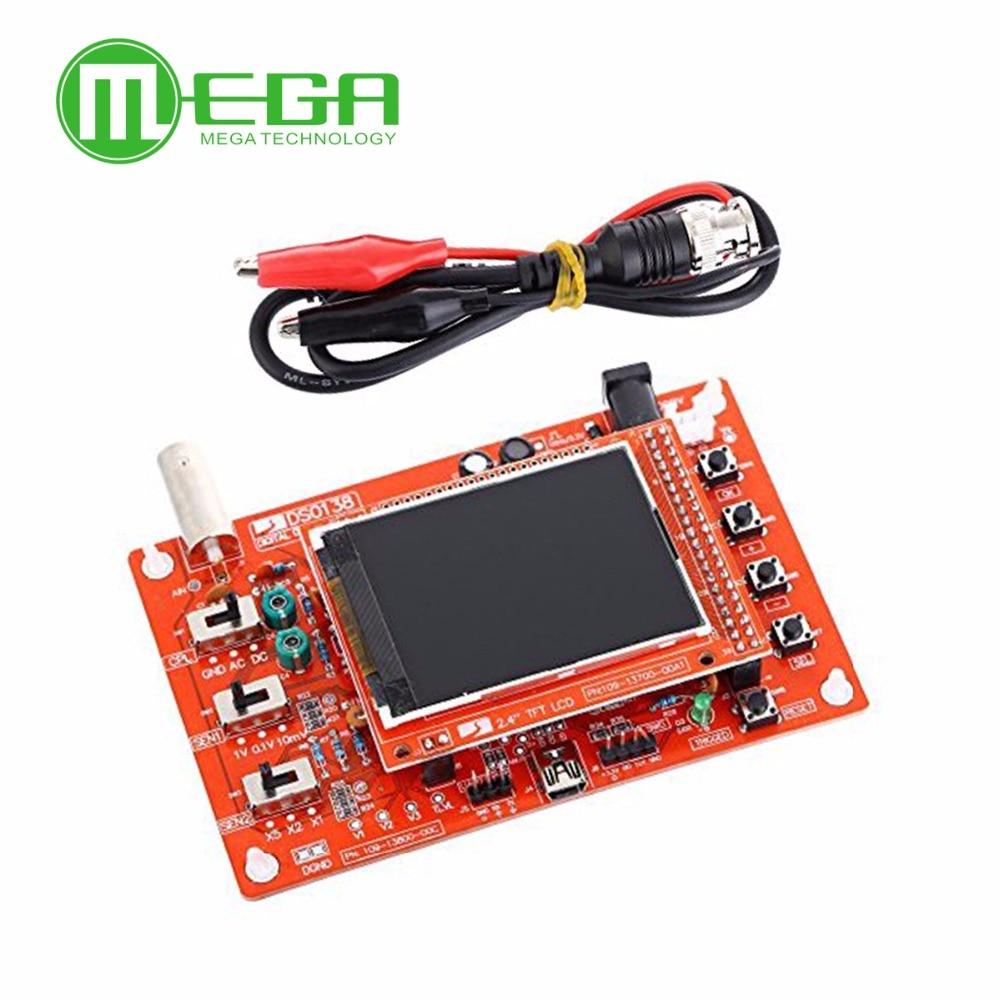 obvod ds0138 - 1pcs DSO138 DS0138 2.4 TFT Pocket-size Digital Oscilloscope Kit DIY Parts  ( soldered)